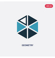 two color geometry icon from science concept vector image vector image