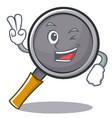 two finger frying pan cartoon character vector image