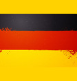 vintage grunge texture flag germany vector image