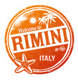 welcome to rimini grunge rubber stamp vector image