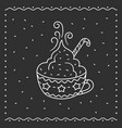 winter cup hot chocolate vector image