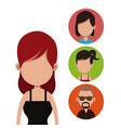 young woman people community vector image vector image