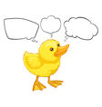 A baby duck with empty callouts vector image