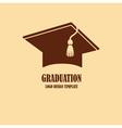 Graduation cap logo design vector image