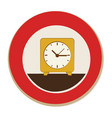 circular frame with alarm clock vector image