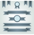 set of retro ribbons and labels vector image