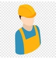 Worker isometric 3d icon vector image