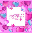 3d colorful hearts for happy valentines day vector image vector image