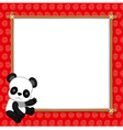 A Panda with white blank vector image
