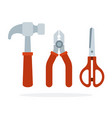 a set tools for crafts made wood flat vector image