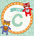 ABC animals C is cat Childrens english alphabet vector image vector image