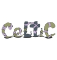 abstract inscription in Celtic style vector image vector image