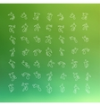 Abstract people thin line vector image