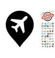 Airport Map Marker Icon with 2017 Year Bonus vector image vector image