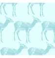 an antelope seamless animal pattern vector image