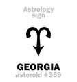 astrology asteroid georgia vector image vector image