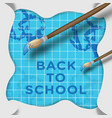 back to school creative background vector image vector image