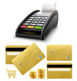 bank terminal for payments vector image vector image