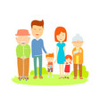 big family cartooning flat colorful vector image