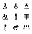 black chemistry icon set vector image vector image