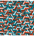 Blue Red Triangle Random Stripes Geometric vector image vector image