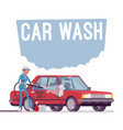 car wash service vector image