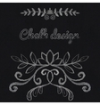 Chalk floral ornament vector image