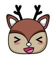 cheerful deer head wild animal vector image vector image
