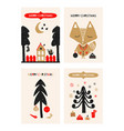 christmas a festive collection of postcards in vector image vector image