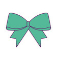 christmas bow decoration ornament design vector image