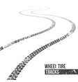 creative of wheel tire tracks vector image