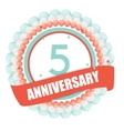Cute Template 5 Years Anniversary with Balloons vector image vector image