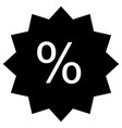 discount icon flat design style discount icon on vector image vector image