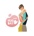 embracing with tenderness vector image