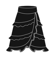 Flamenco skirt icon in black style isolated on vector image