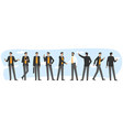 flat character activities and gestures vector image vector image