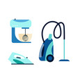 flat consumer electronics icon set vector image vector image