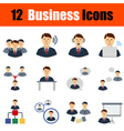 Flat design business icon set vector image
