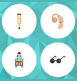 flat icon disabled set of stand disabled person vector image vector image