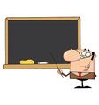 Happy School Teacher vector image vector image