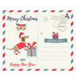 holiday greeting postcard with holiday dachshund vector image vector image