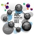 infographics molecule vector image vector image