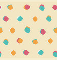 ink brush square dot pattern seamless background vector image