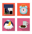 isolated object of dreams and night sign set of vector image