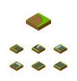 isometric way set of footer strip driveway and