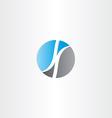 letter k in circle logo design vector image vector image