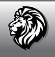 lion head logo icon vector image