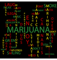 Marijuana background vector image