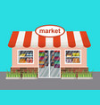 market building grocery store vector image vector image