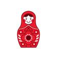 matryoshka russian nesting doll souvenir russia vector image
